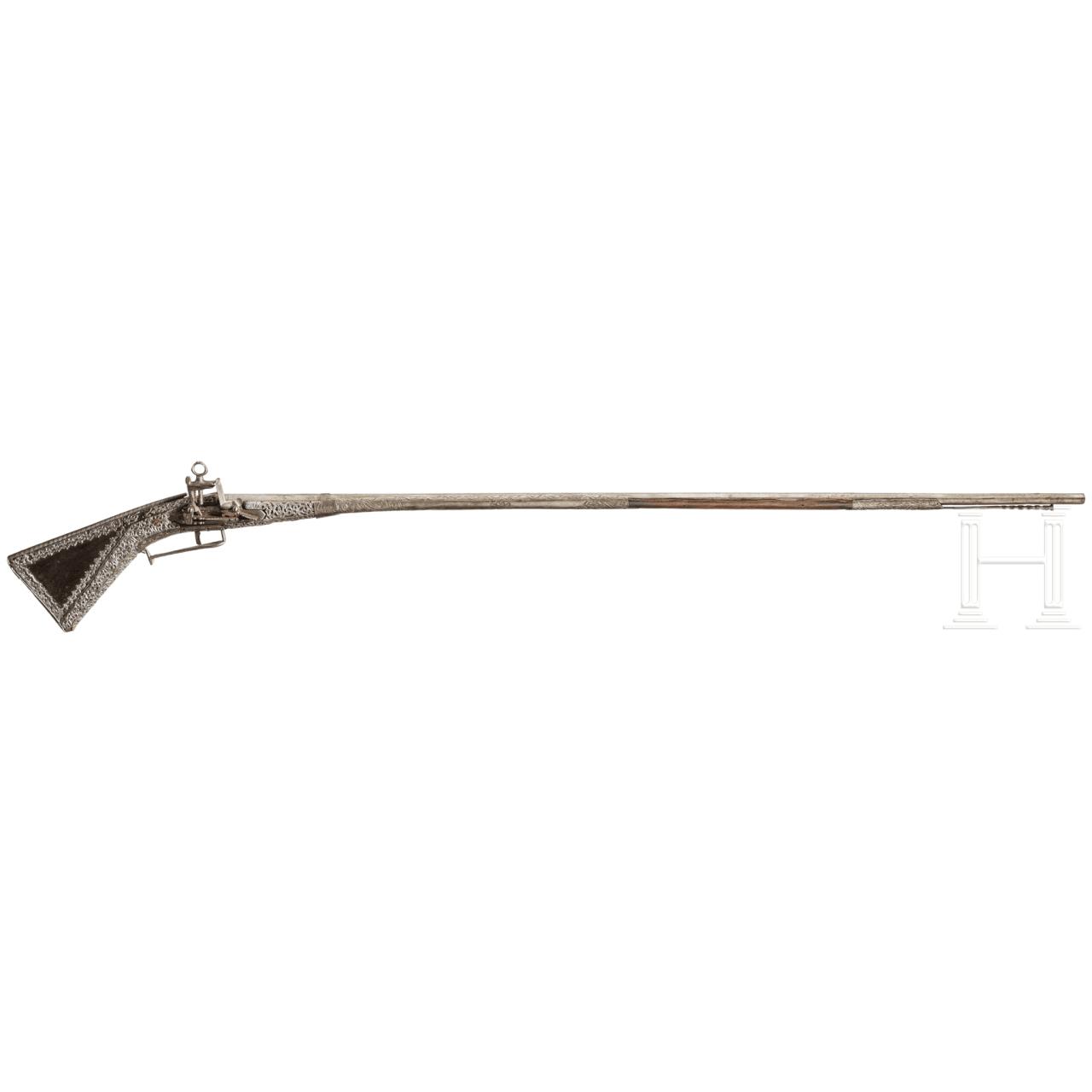 A Sardinian chiselled Miquelet shotgun, 2nd half 18th century