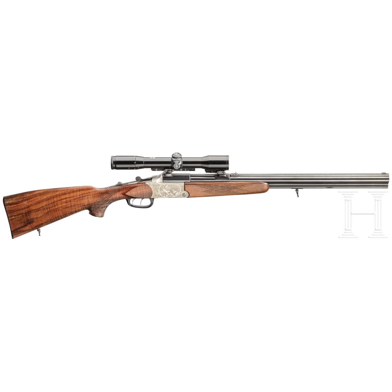 A Blaser rifle-shotgun with Zeiss scope and insert barrel