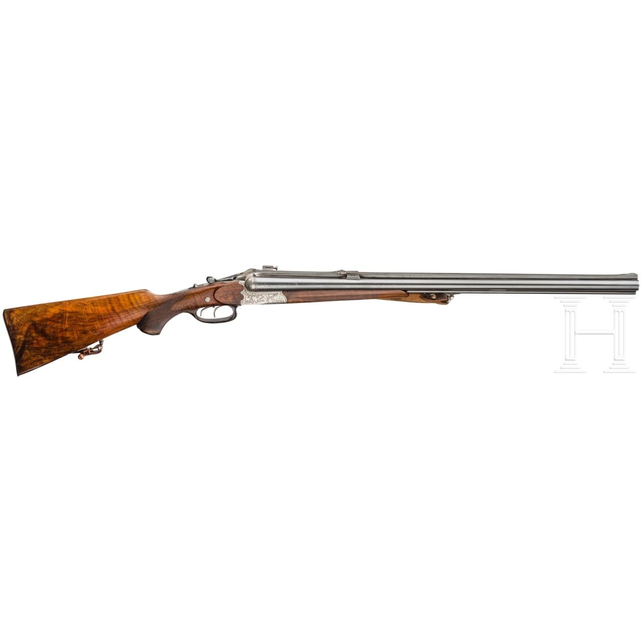 A four-barrelled rifle, Aug. Jung, Viernau, Thuringia