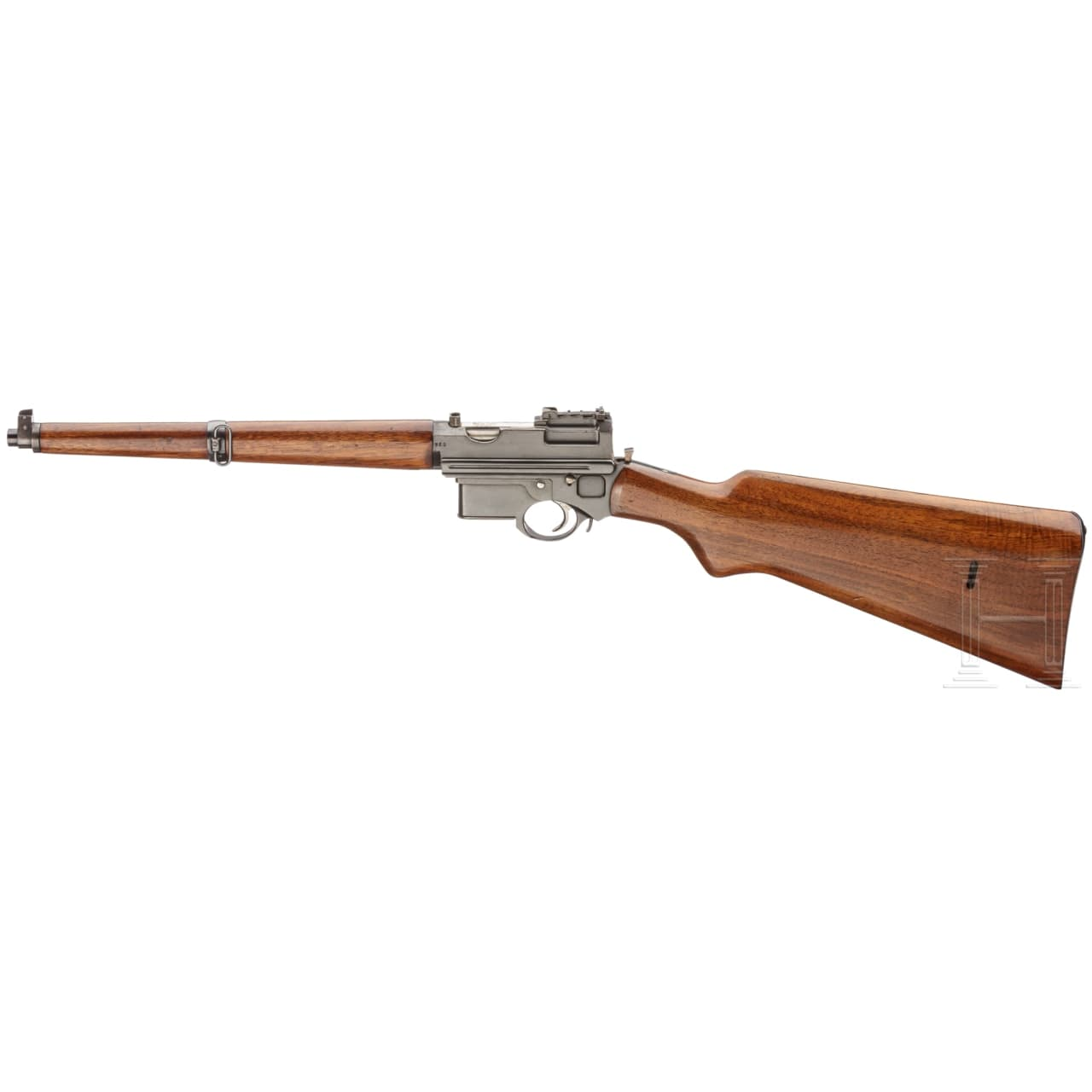 """A Mannlicher system semi-auto """"pistol carbine"""" M 1897/01, demo gun for exports to South America, with case"""