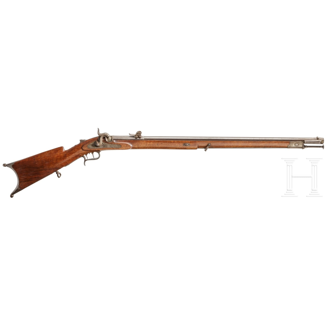 A Swiss M 1851 sniper rifle