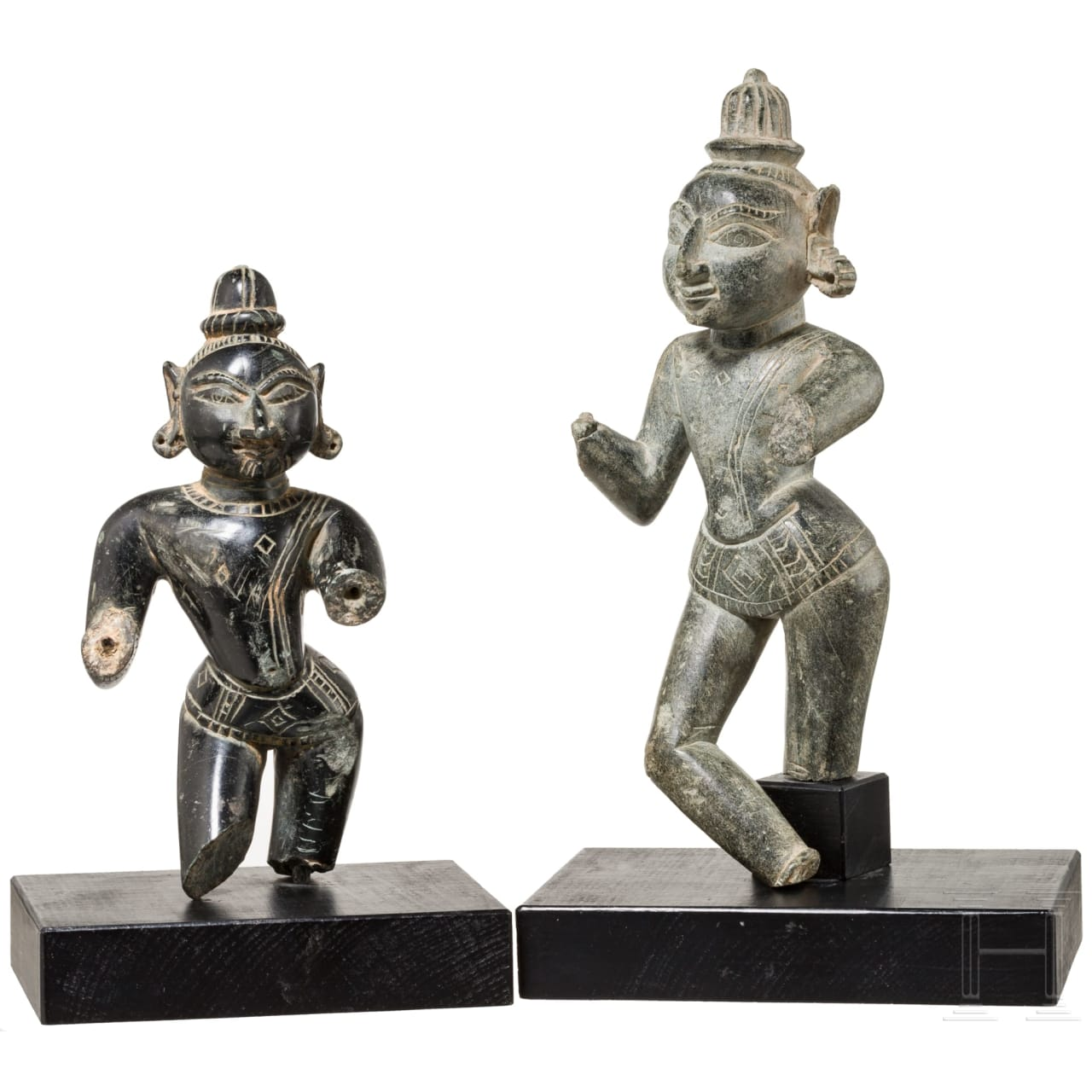 Two figures of Indian divinities, 19th century