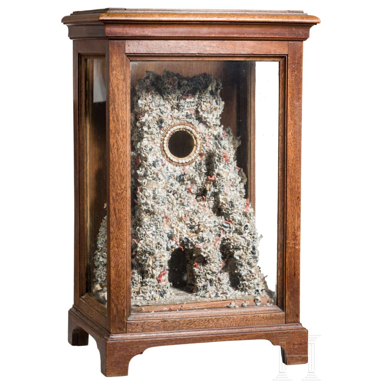An extraordinary Italian pocket watch stand, Trapani, 19th century