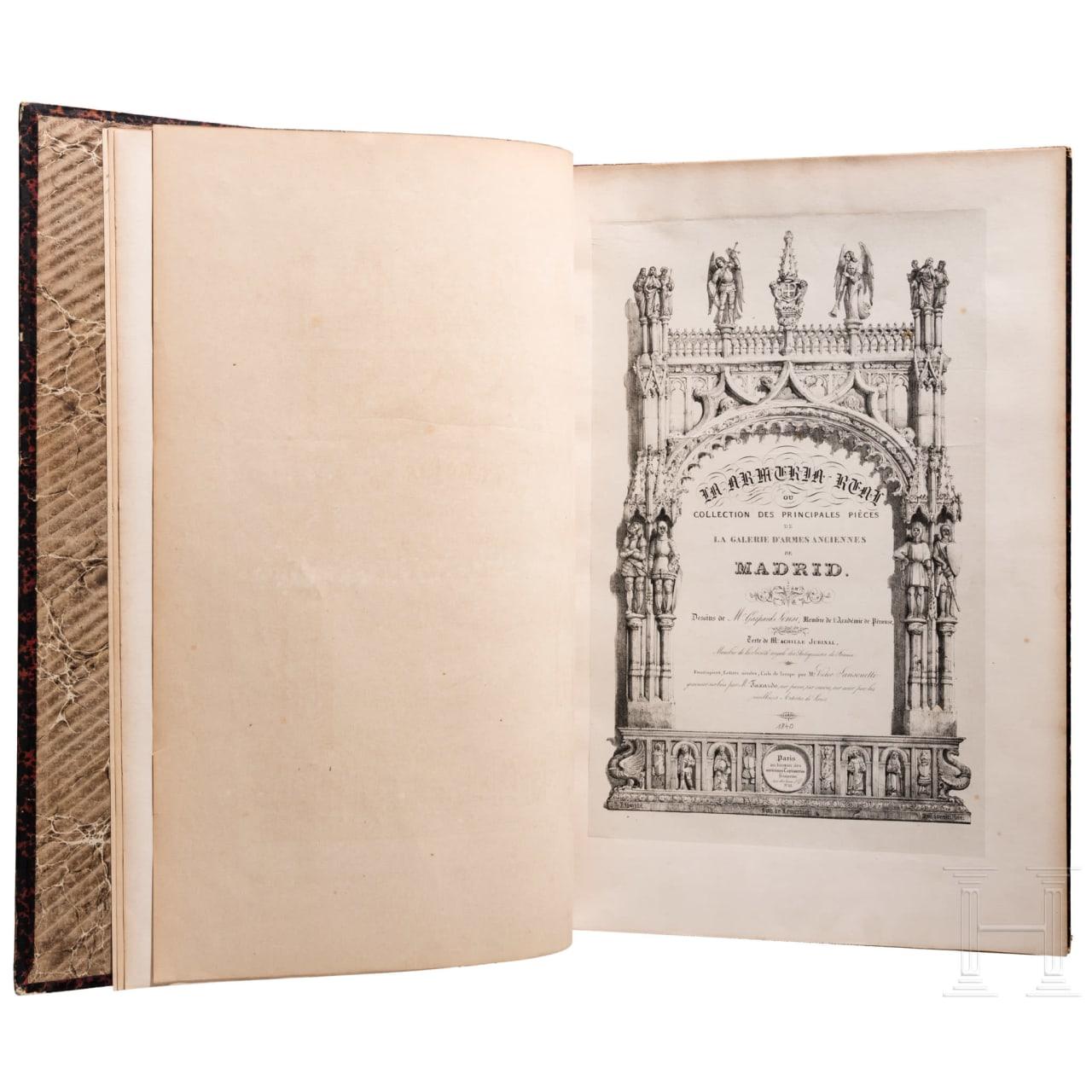 "A. Jubinal, ""La Armeria Real de Madrid"", Paris, um 1840"