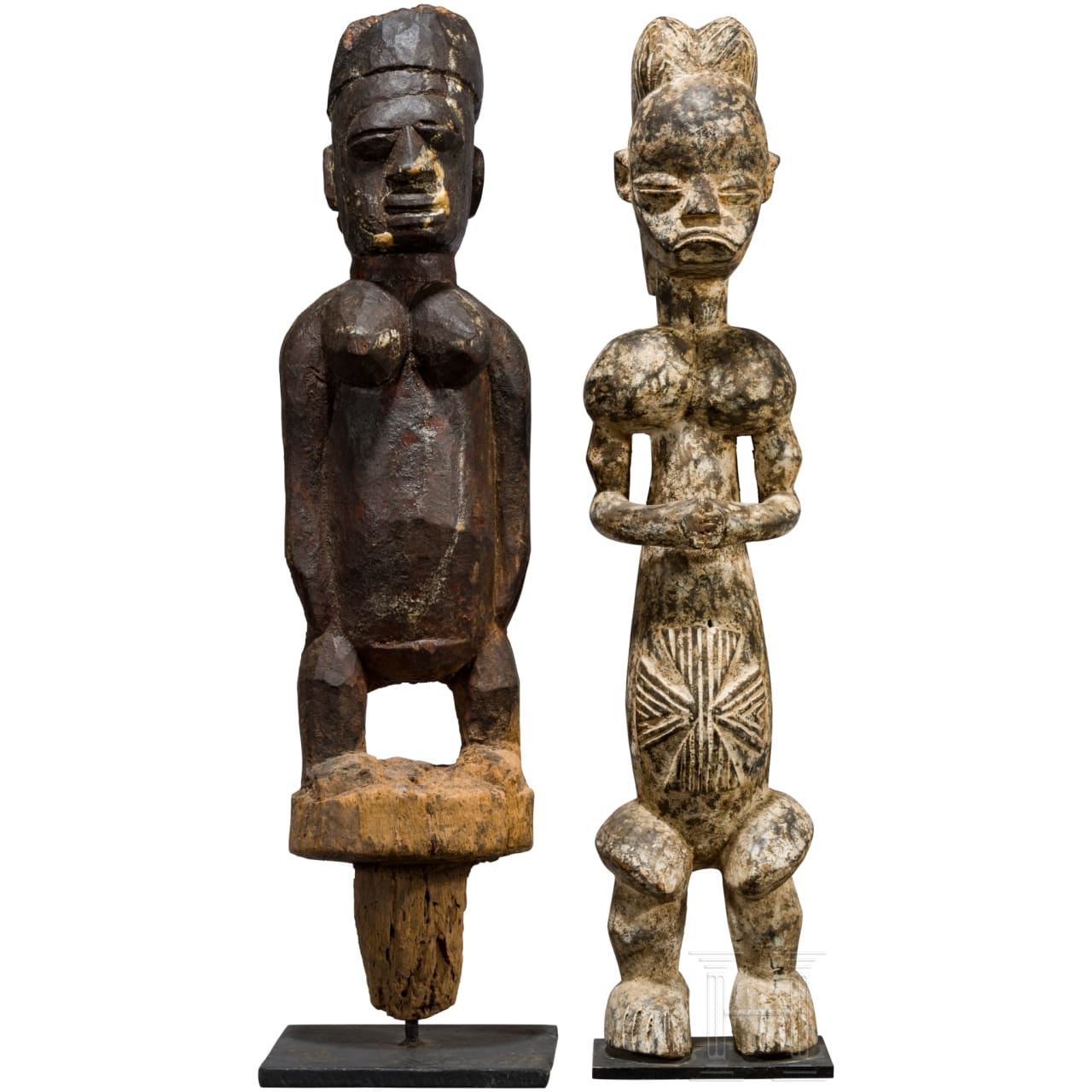 Two large African figures