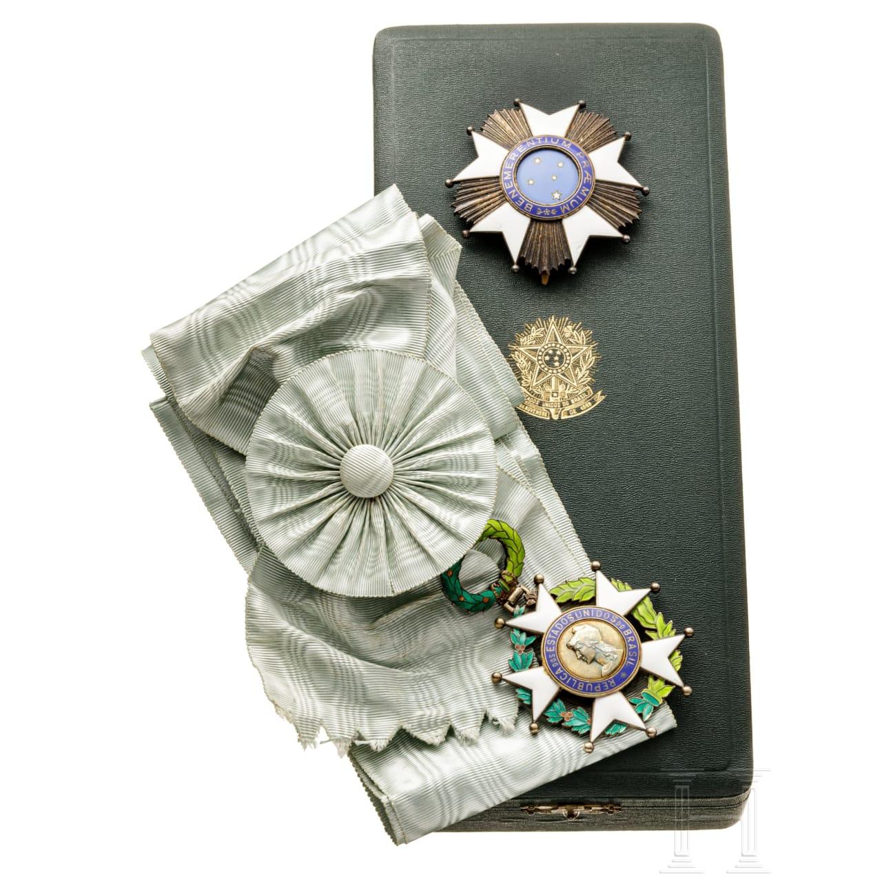 Brasilien - Nationaler Orden vom Kreuz des Südens (Ordem Nacional do Cruzeiro do Sul) 1. Klasse im Etui, 20. Jhdt.