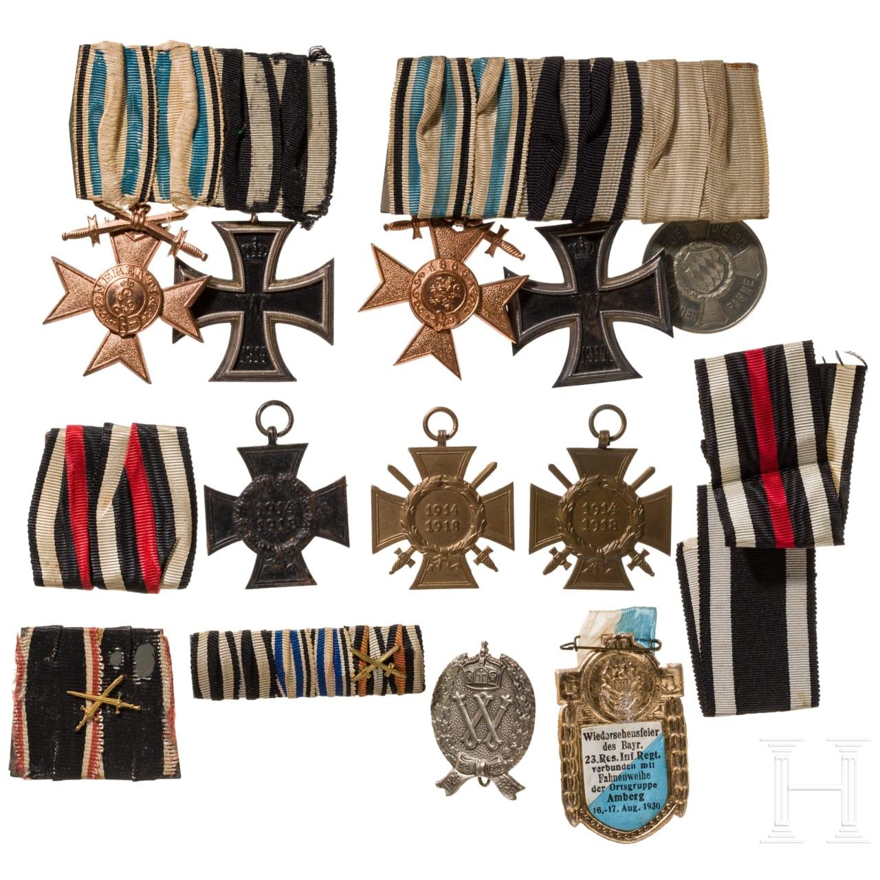 Gruppe Auszeichnungen, Bayern, 1. Weltkrieg