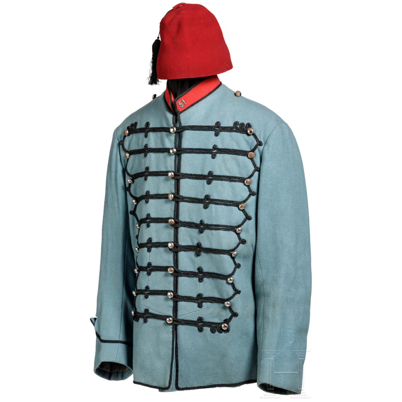 A fez and a uniform jacket of a North African colonial soldier, circa 1900