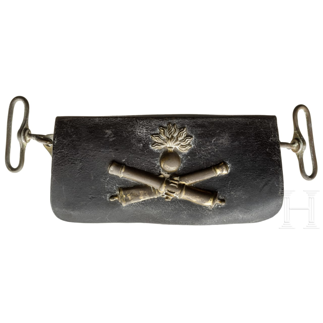 A cartouche box for artillery troopers, 19th century