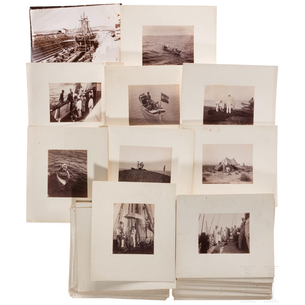 Foto-Nachlass S.M. Schiff POLA der k.u.k Marine - Österreichisch-Ungarische Tiefsee-Expeditionen 1890 - 1898