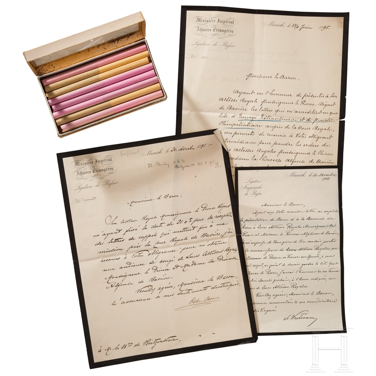 Nikolaï Dimitriévitch von der Osten-Sacken (1831 - 1912) - Handschreiben 1895