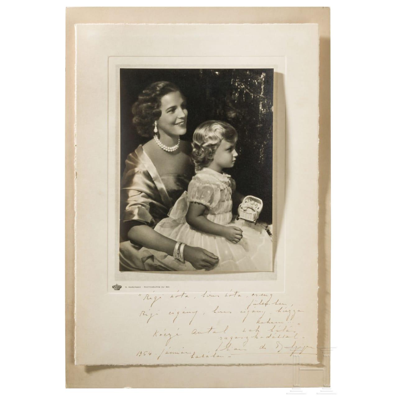 Belgien - Mary Lilian Baels, Prinzessin von Réthy, Autograph von 1954