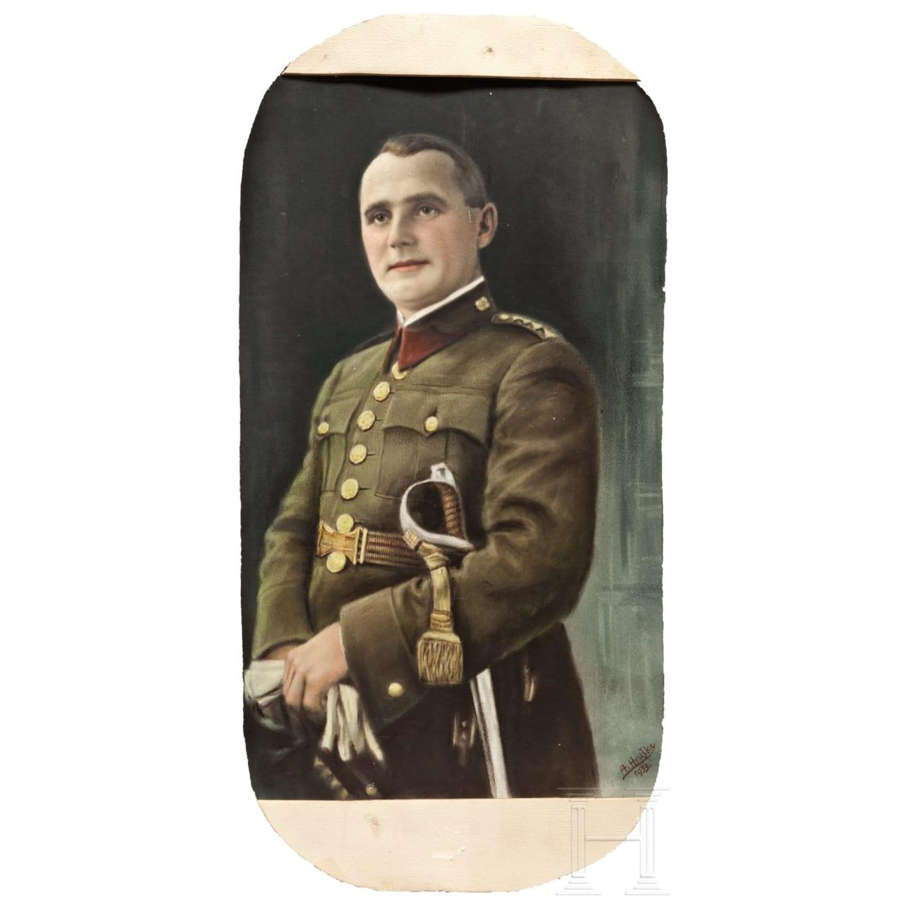 Tschechisches Uniformportrait, datiert 1933