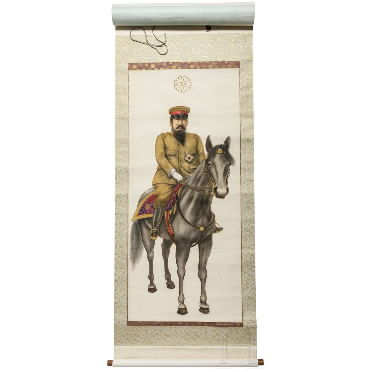 Japan - a scroll painting of Emperor Mutsuhito, Meiji period