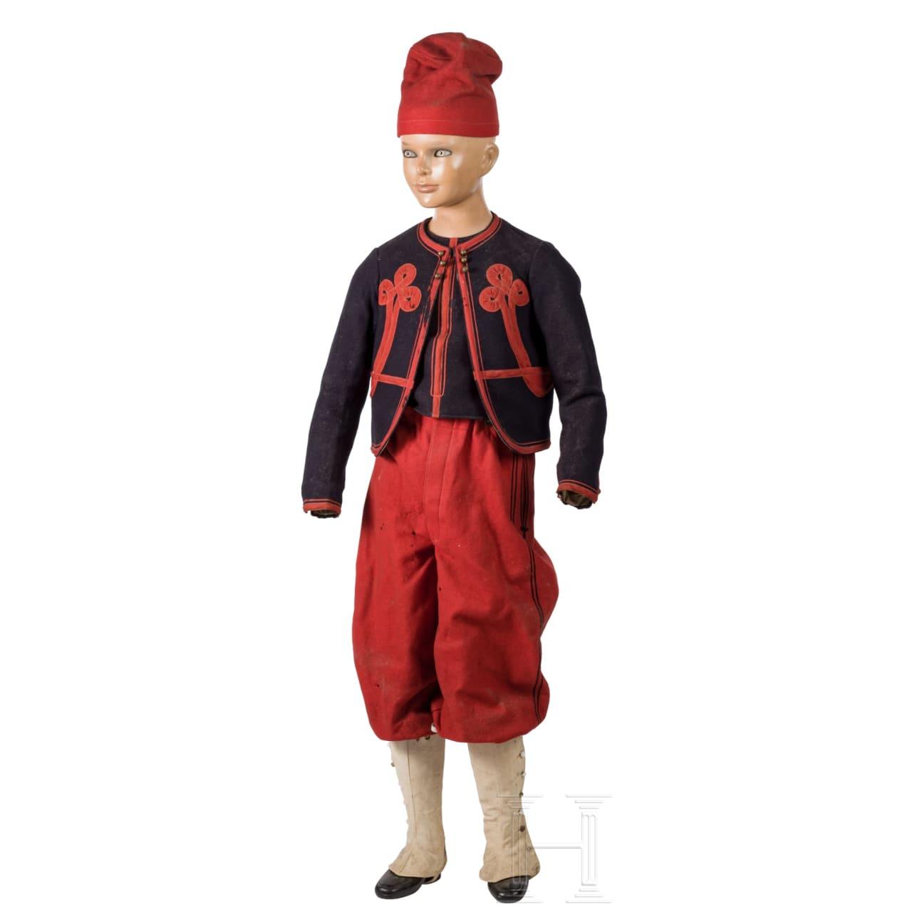 A US-American children's Zouave style uniform, 19th century
