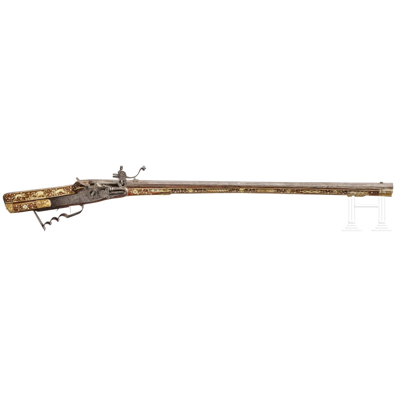 A profusely inlaid Silesian wheel-lock hunting rifle, circa 1700