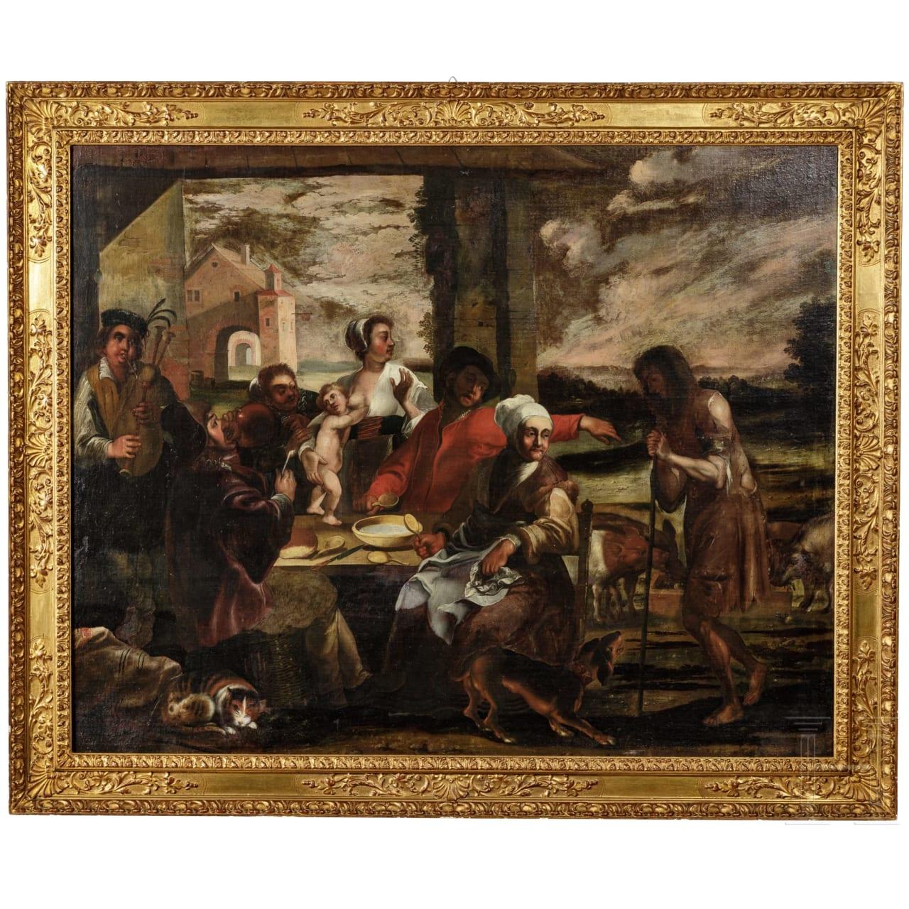 Großes Altmeister-Gemälde, Niederlande, 17. Jhdt.