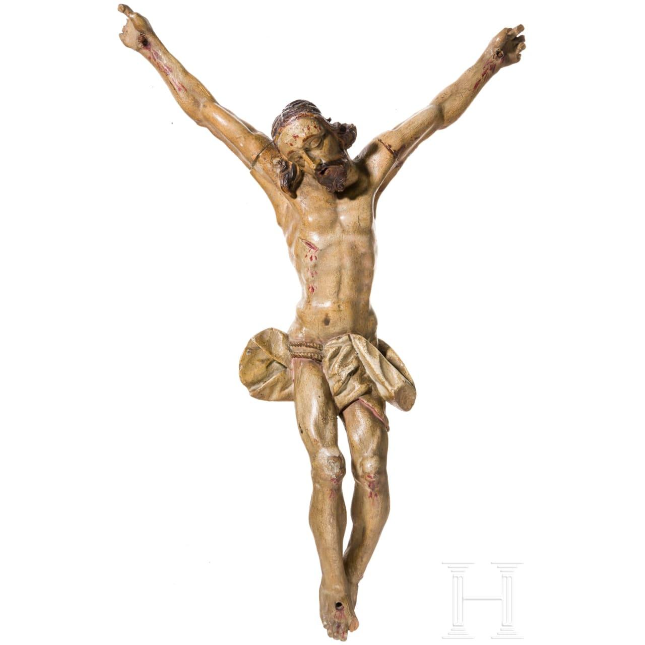 Barocker Christuskorpus, süddeutsch, 17. Jhdt.