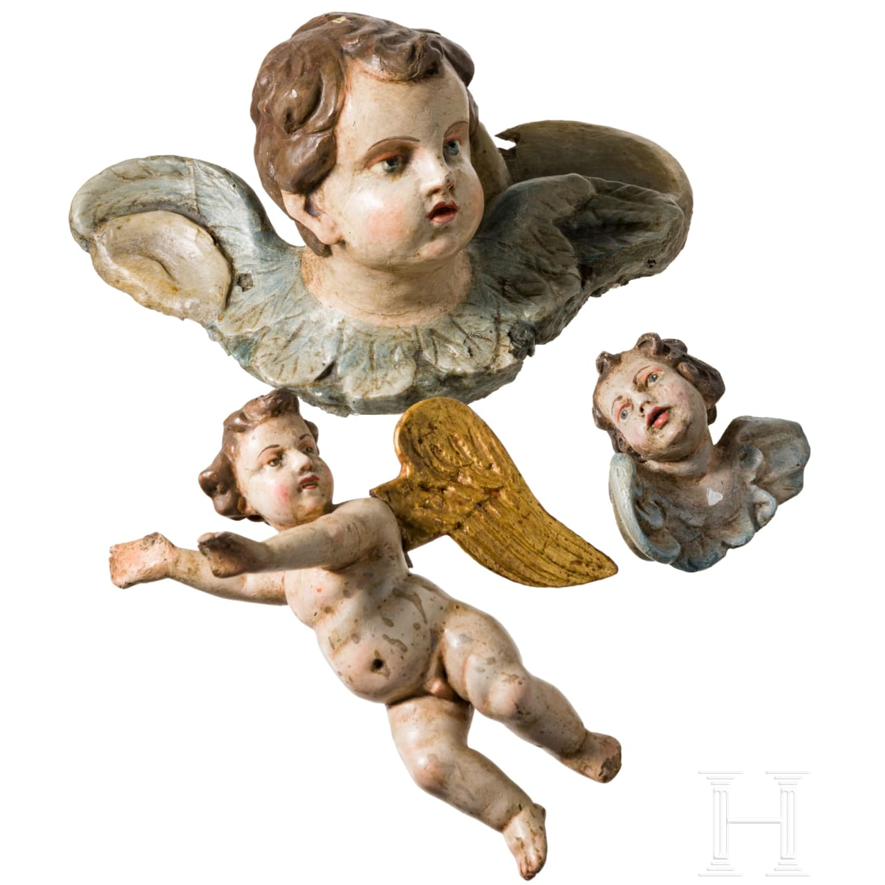 A set of three putti, Southern German, 18th/19th century