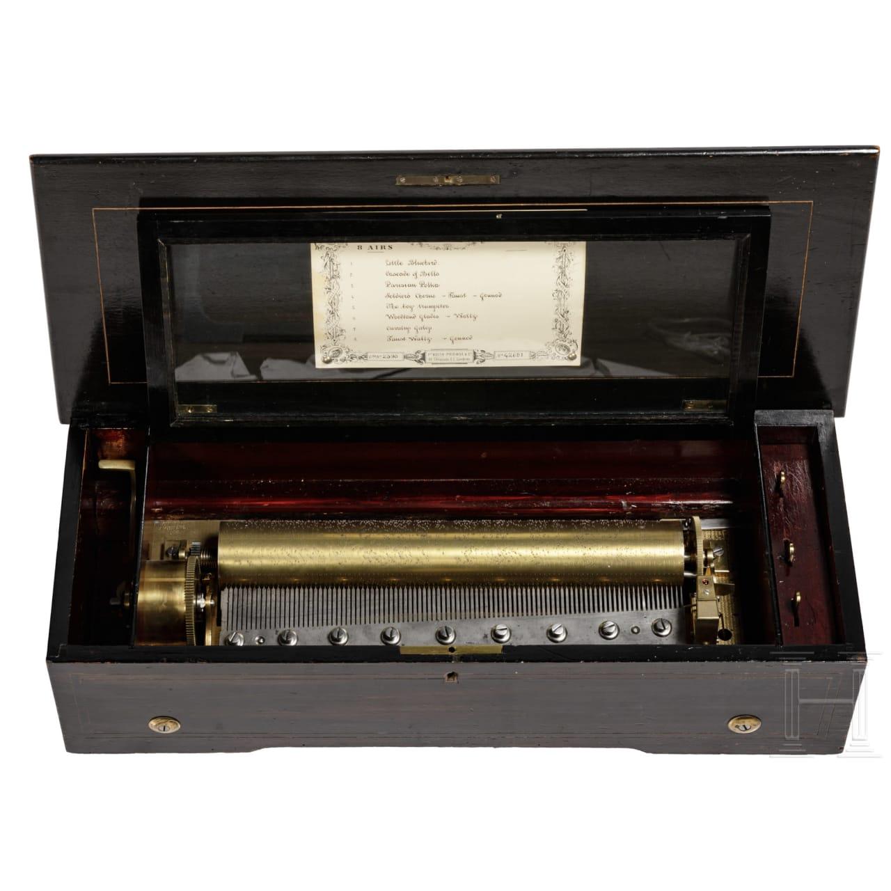 A Swiss musical box, circa 1900