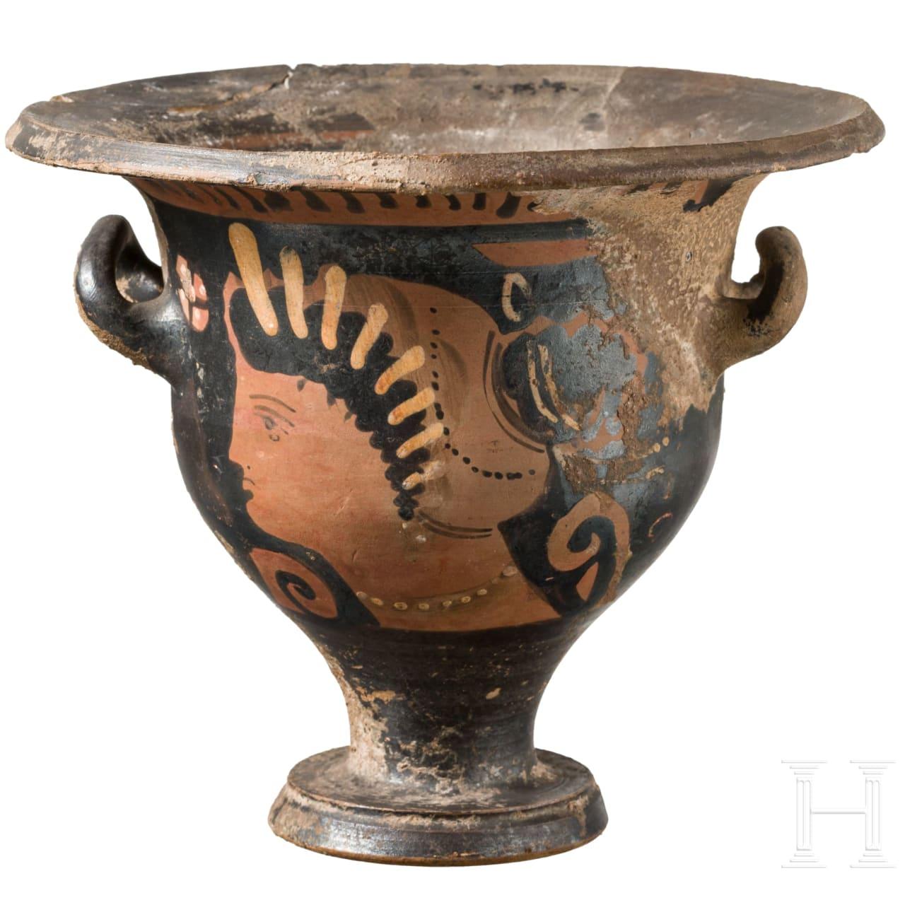 Kleiner Glockenkrater, Magna Graecia, Unteritalien, 4. Jhdt. v. Chr.