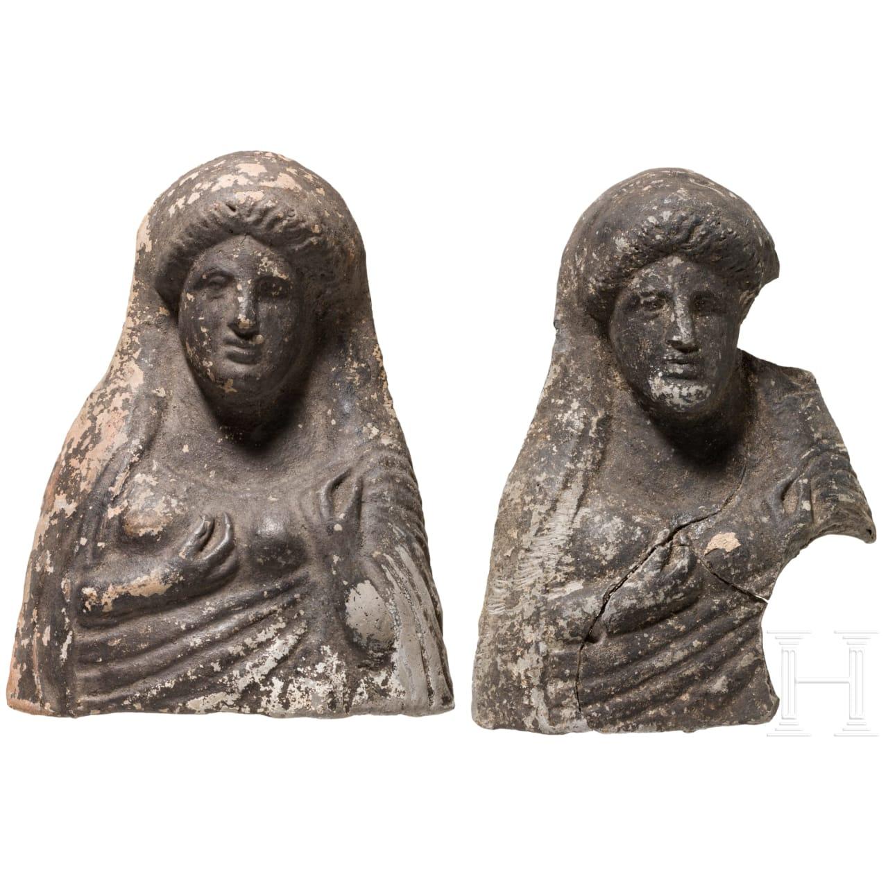 Zwei Votiv-Terrakotten, Griechenland, 5. Jhdt. v. Chr.