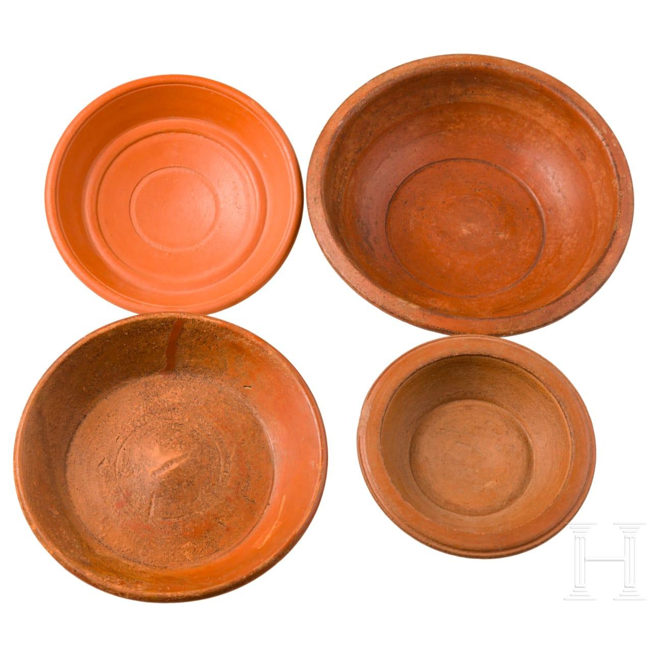 Vier Terra Sigillata-Schalen, römisch, 2. - 3. Jhdt.