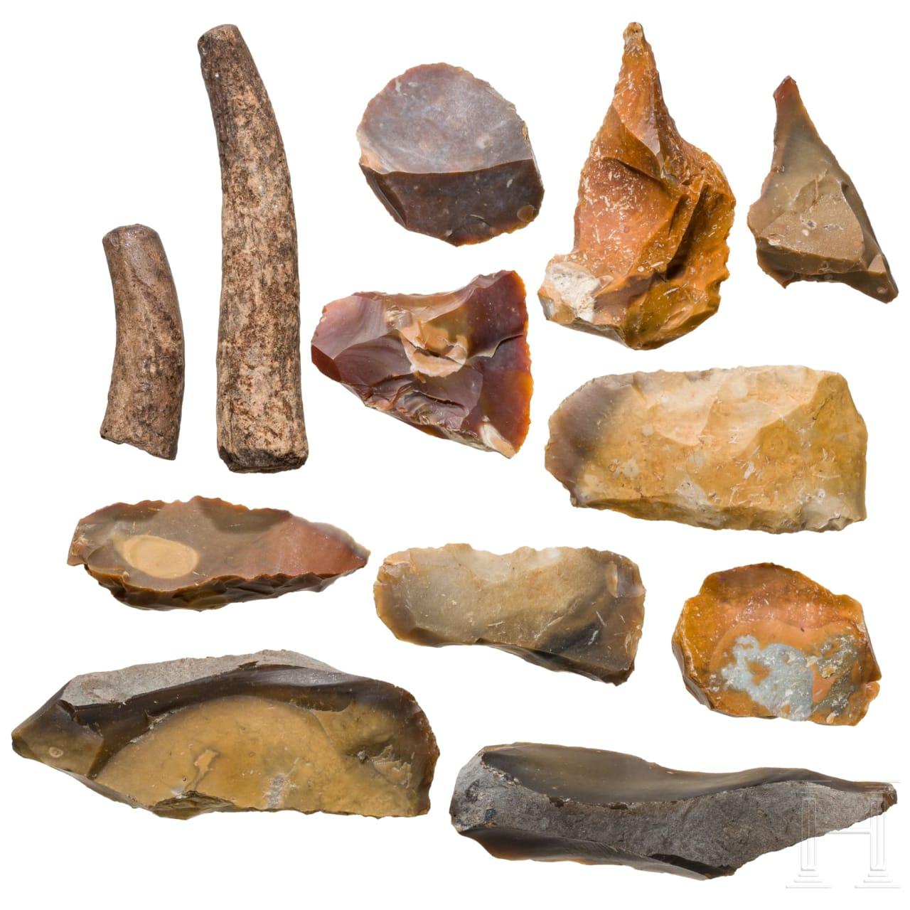 Zwölf steinzeitliche Werkzeuge, Mitteleuropa