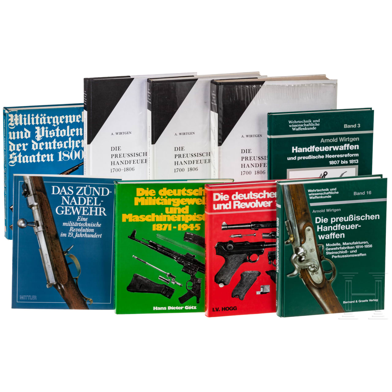Nine books on German military firearms