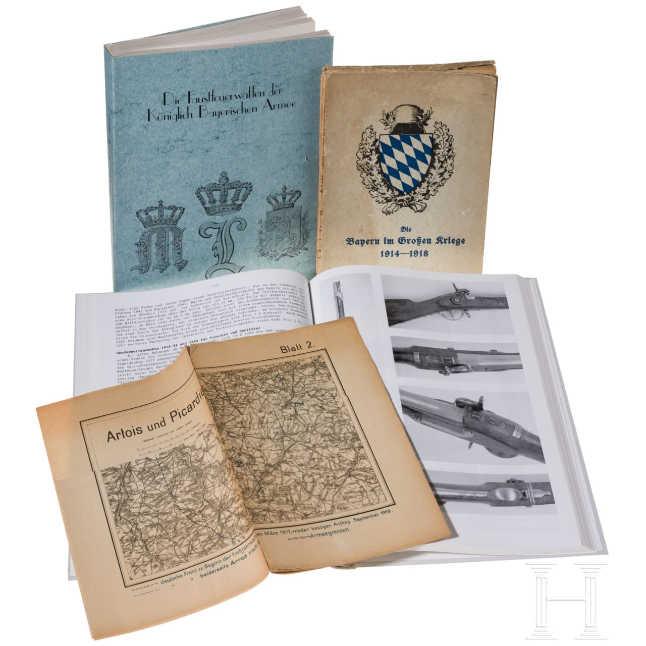 Three Bavarian military books