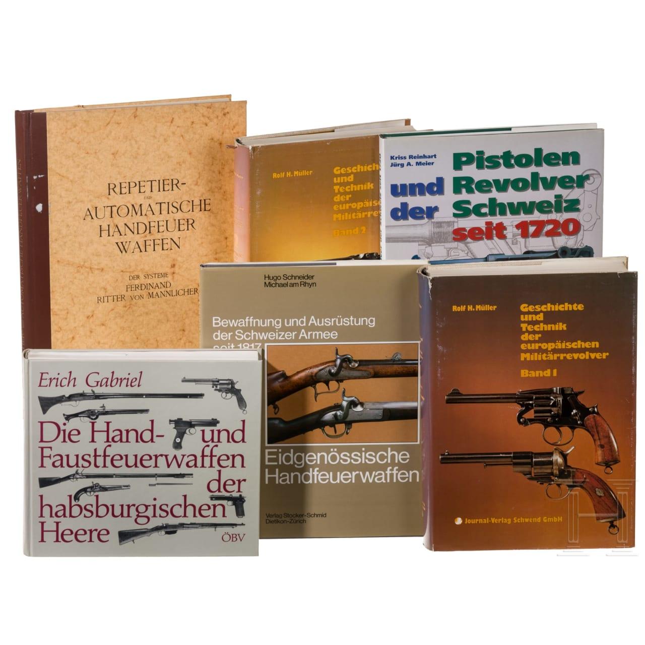 Six books on firearms