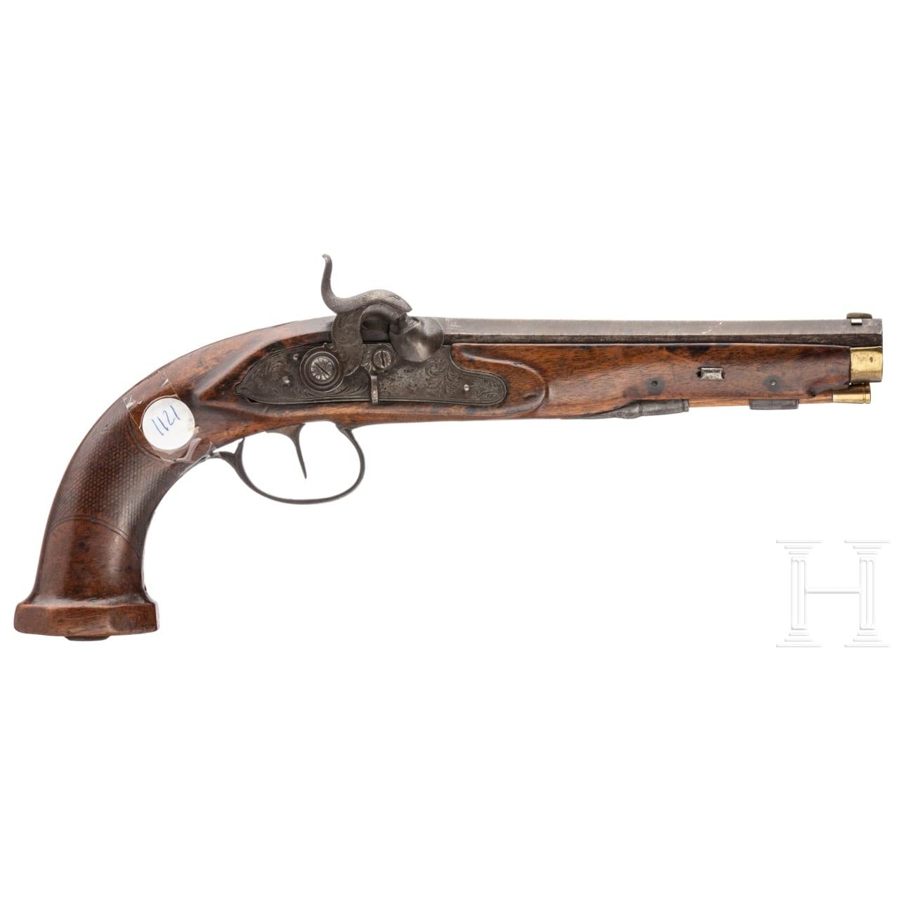 A percussion pistol, France, circa 1830