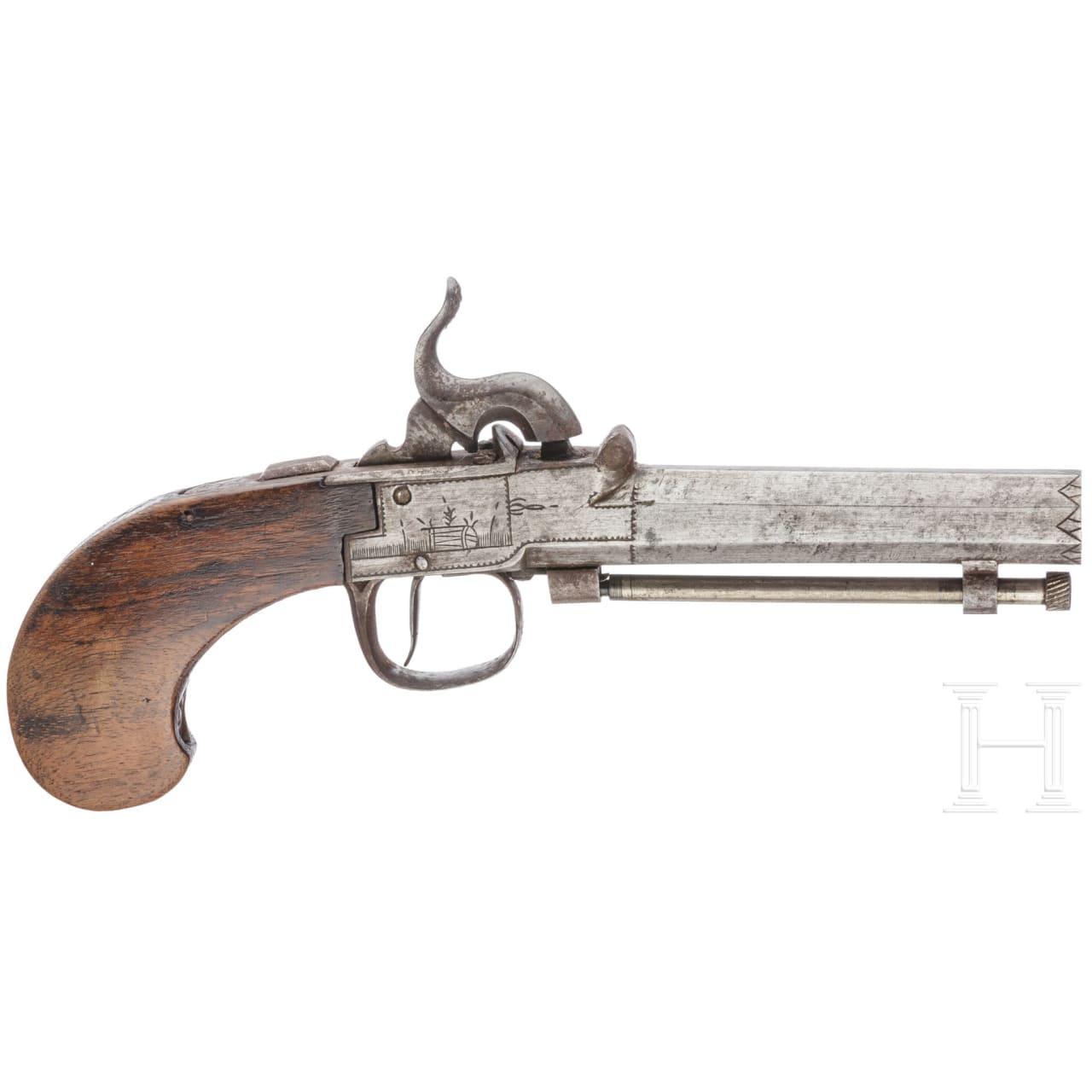 A percussion pistol, Germany (?), circa 1840