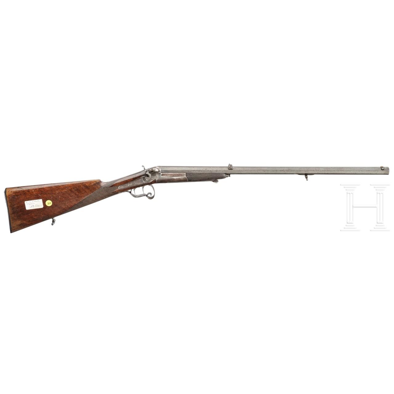 A target rifle with external hammer