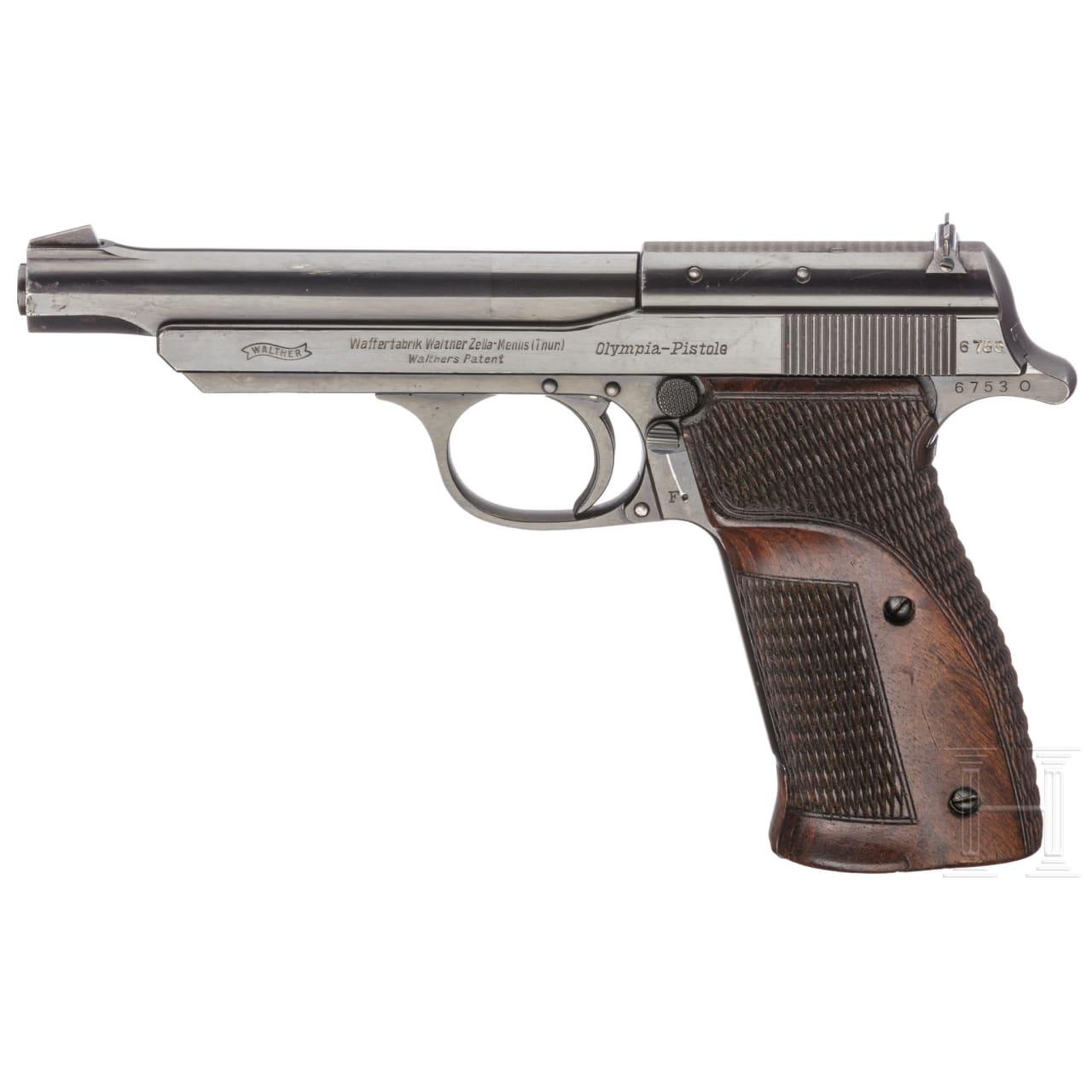 """Walther Olympia-Pistole, """"Jägerschaftsmodell"""""""