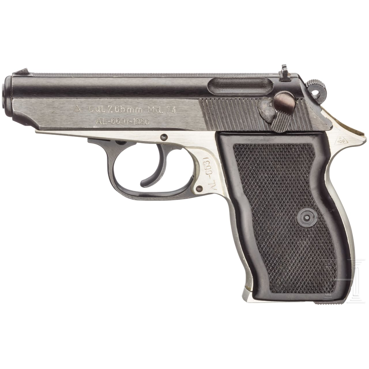 Pistole Mod. 74, with holster, Securitate, Polizei und Militär
