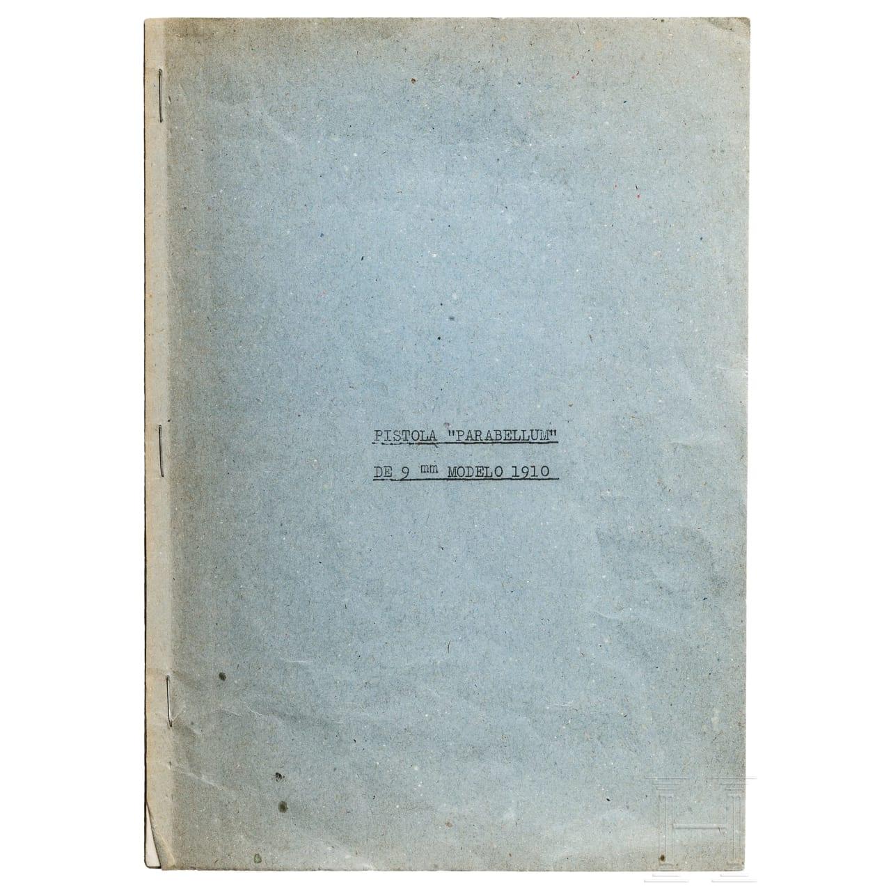 Originale prov. Anleitung zur Pistole Parabellum Mod. 1910, Portugal