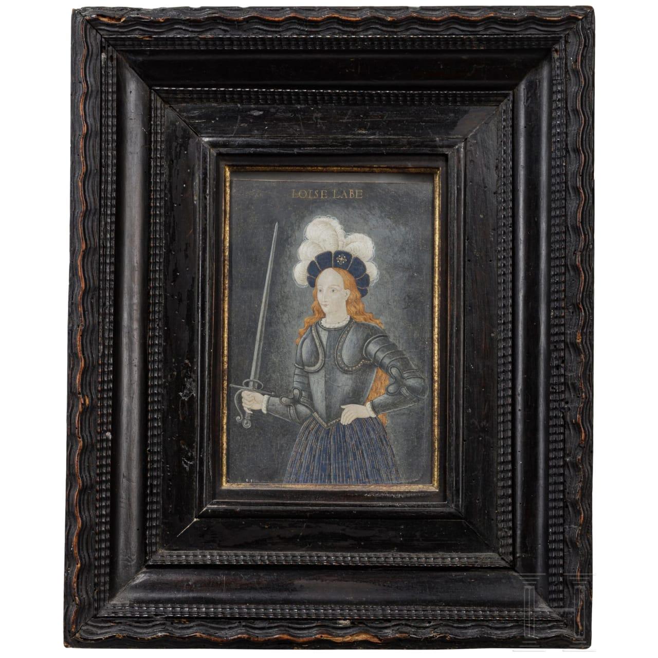 A French portrait of Louise Labé, 16th century
