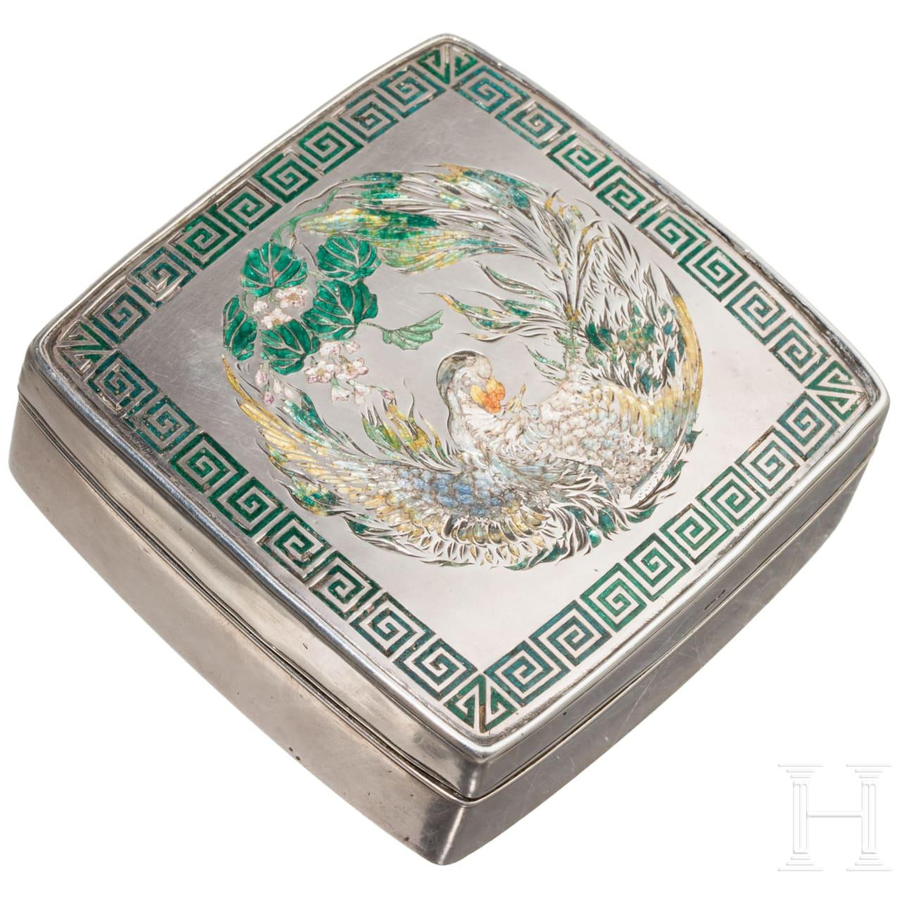 Prof. Francis Elgar – a silver presentation box by the Japanese Emperor, circa 1880