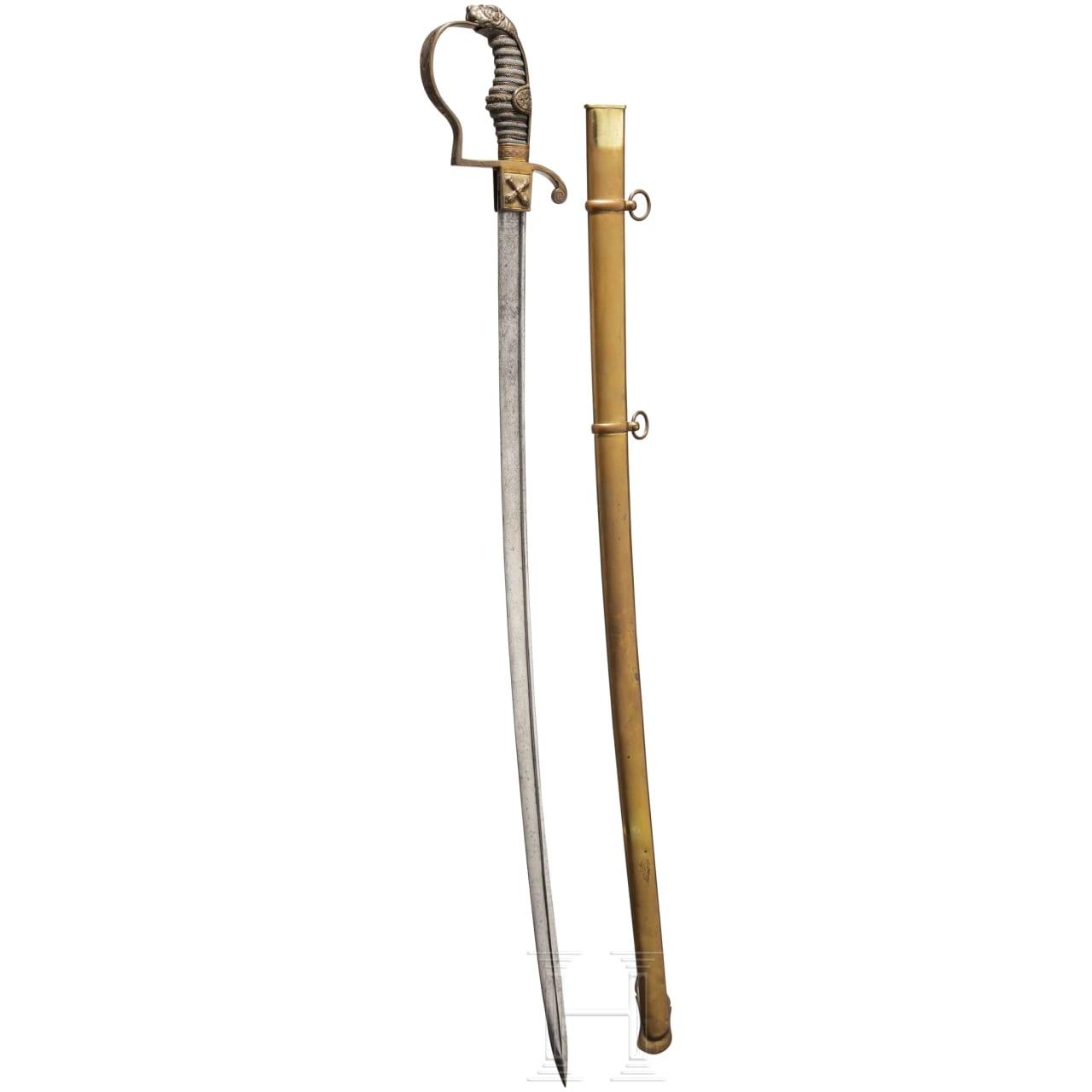 A sabre for officers of the Hamburg militia, circa 1840