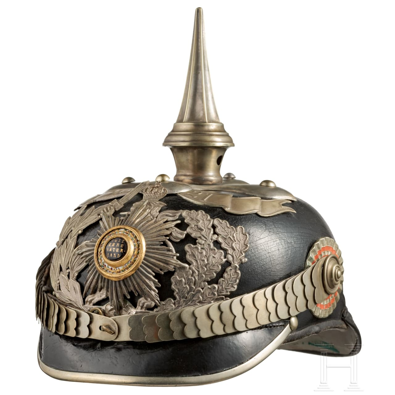 A helmet for officers of the Life Guards Infantry Regiment (1st Grand Ducal Hessian) No. 115, circa 1900