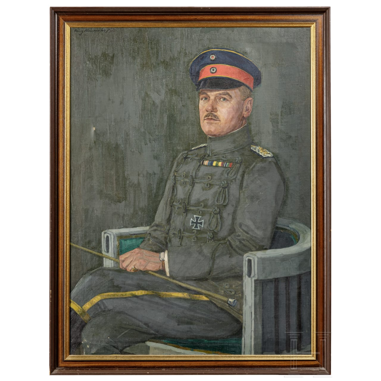 A portrait painting of a major of the hussars