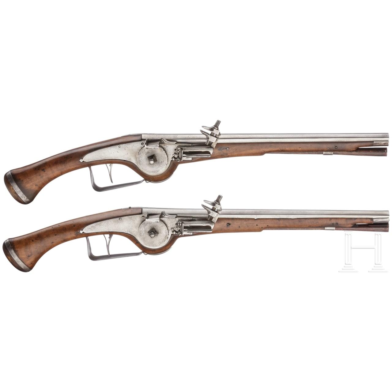 A pair of German military wheellock pistols, circa 1630/40