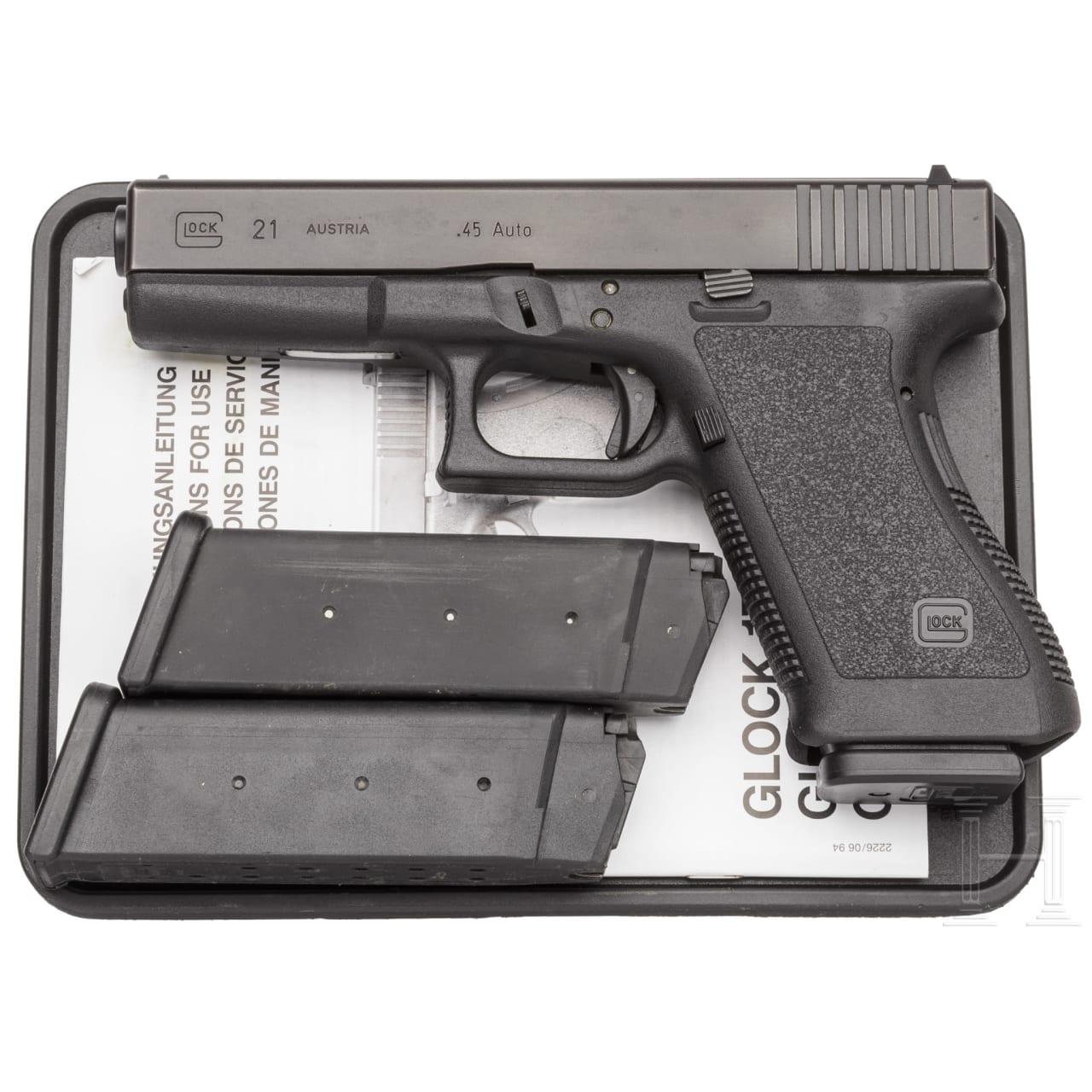 Glock Mod. 21, in Box