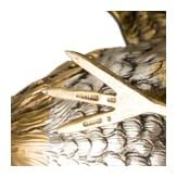 Ein Paar kämpfende Hähne aus Silber, deutsch, 20. Jhdt.
