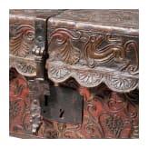 Geprägte Lederkassette, Spanien, um 1700