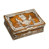 A small North Italian Baroque casket with finely engraved ivory inlays, 18th century