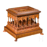 An Italian master craftsman's casket, circa 1900