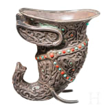 A Nepalese silver cup, 19th century
