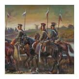 Afanasij Ivanovic Scheloumoff (1892 - 1983) - a lancer regiment on the march, 20th century